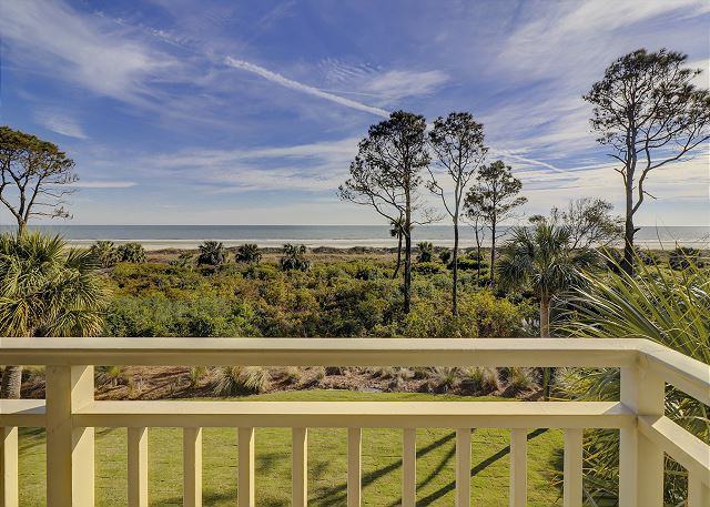Shorewood 308 - View from Private Oceanfront Balcony - HiltonHeadRentals.com