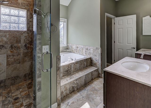 Master Bath with Tub & Shower