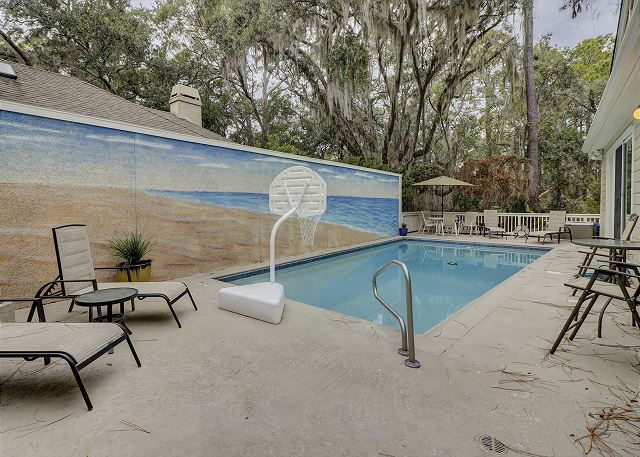 Water Oak 33 - Private Pool measures 13' x 30' - HiltonHeadRentals.com