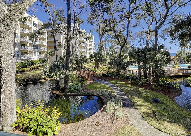 Windsor Place 107 - View from Private Balcony - HiltonHeadRentals.com