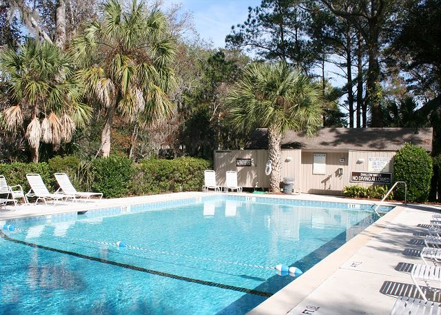 Night Heron 64 - On Site Pool measures 25' x 61' - HiltonHeadRentals.com