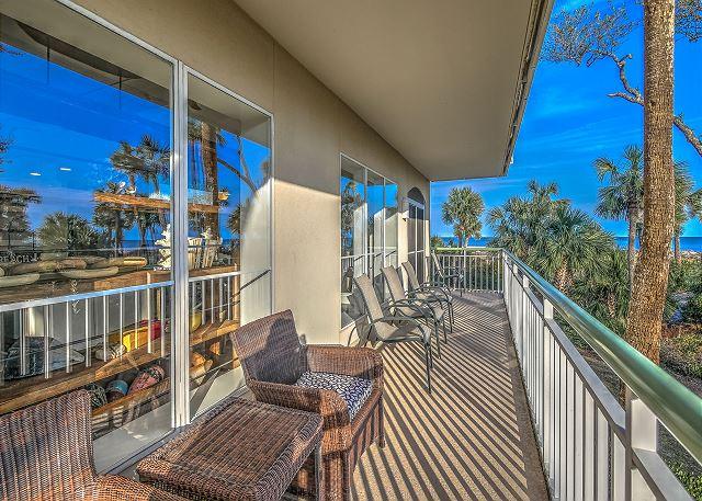Windsor Place 108 - Balcony - HiltonHeadRentals.com