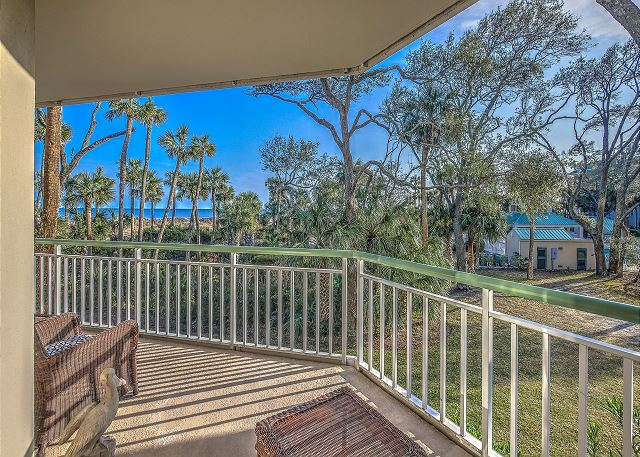 Windsor Place 108 - View from Private Balcony - HiltonHeadRentals.com