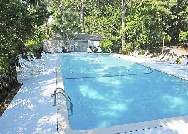 Night Heron 34 - Pool measures 61' x 25' - HiltonHeadRentals.com