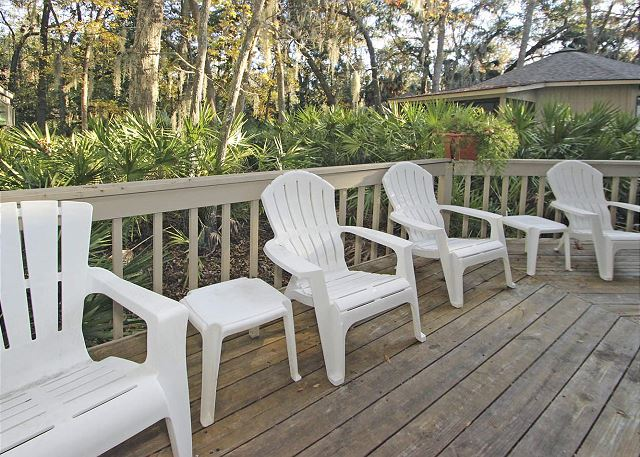 Night Heron 34 - Back Deck - HiltonHeadRentals.com
