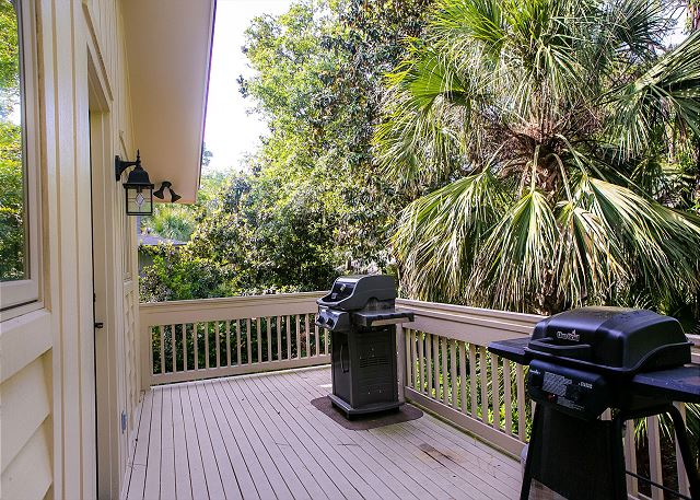 Back Deck with 2 Gas Grills
