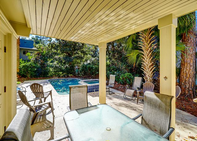 Poolside Covered Porch