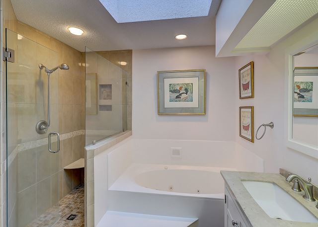 Master Bath with Jac Tub, Shower & Double Sinks