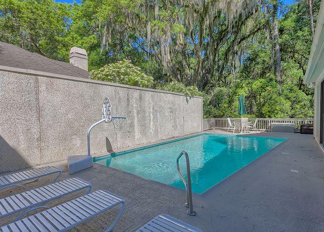 Water Oak 33 - Private Pool measures 13' x 30' - HiltonHeadRentals.com
