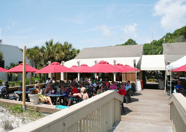 Enjoy lunch at the Dunes House