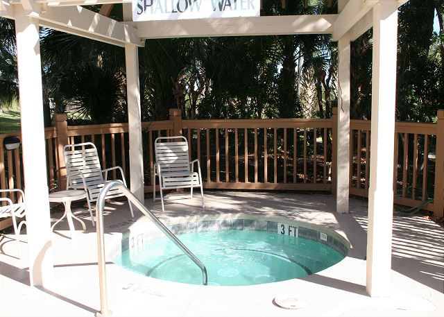 Poolside Hot Tub