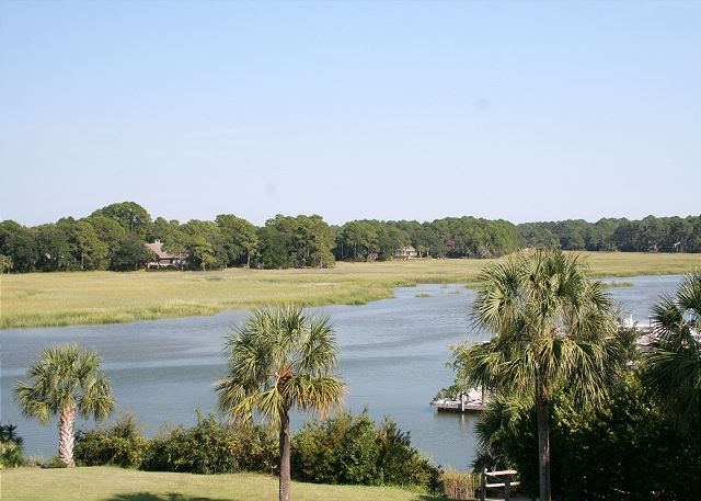 Bluff Villas 1817 - View from Master Bedroom - HiltonHeadRentals.com