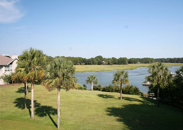Bluff Villas 1817 - View from Living Room - HiltonHeadRentals.com