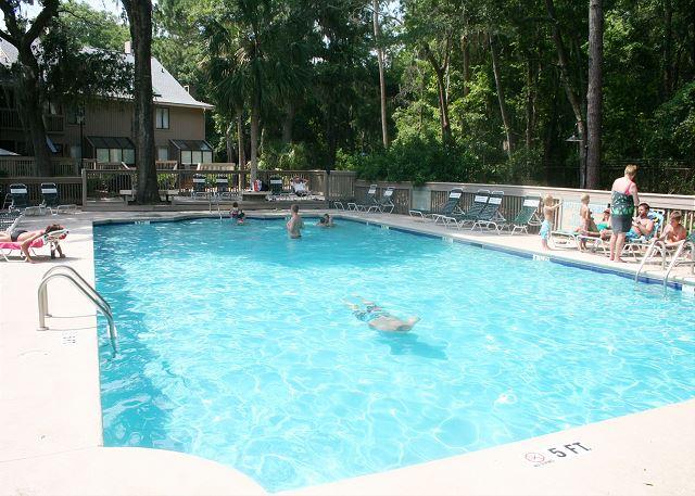 Complex Pool measures 27' x 58'