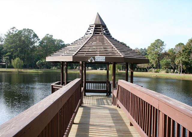 Evian 240 - Gazebo with Views of 5 Acre Lagoon - HiltonHeadRentals.com