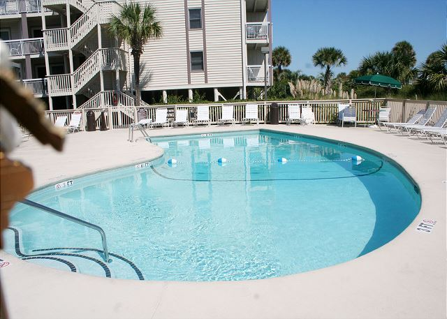 Oceanfront Pool is heated in March & April