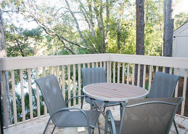 Private Deck overlooks Lagoon