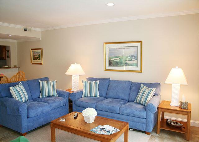 Living Room with Flat Screen TV & Sleep Sofa