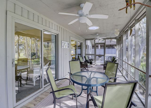 Large Screened Porch with Lagoon & Golf Views