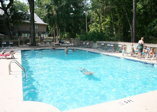 Sunny On Site Pool measures 27' x 58'