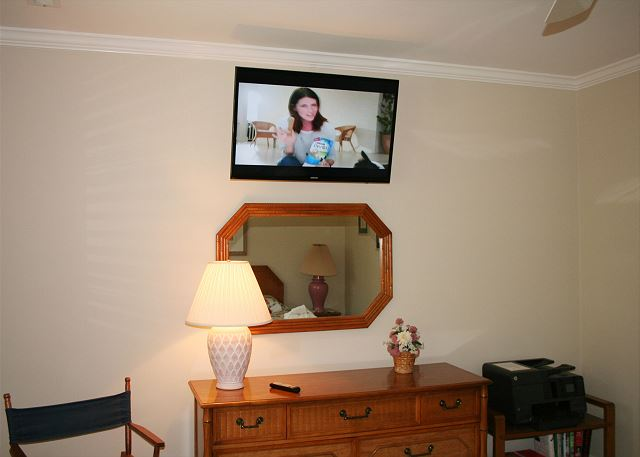 Flat Screen TV in Master Bedroom