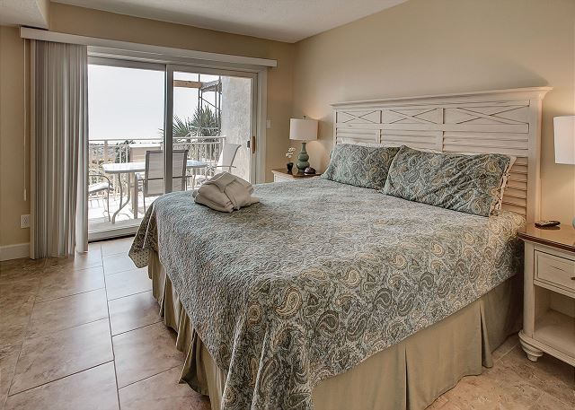 Oceanfront Master Bedroom with Flat Screen TV & Private Bath