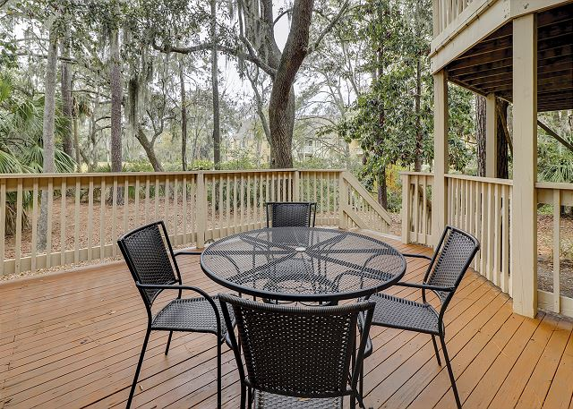 Enjoy your morning coffee on your Private Deck