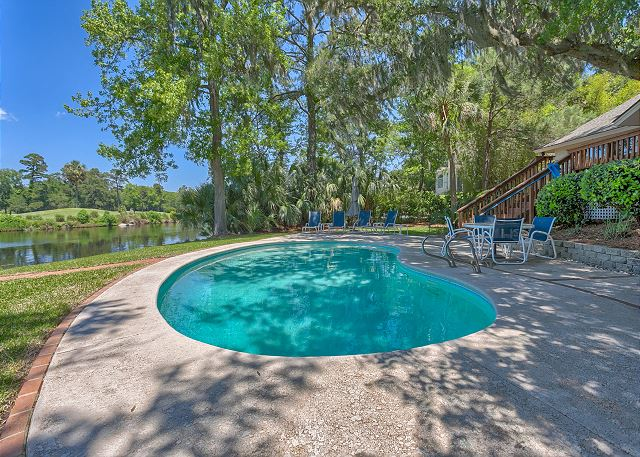 Promontory 15 - Private Pool measures 13' x 26' - HiltonHeadRentals.com