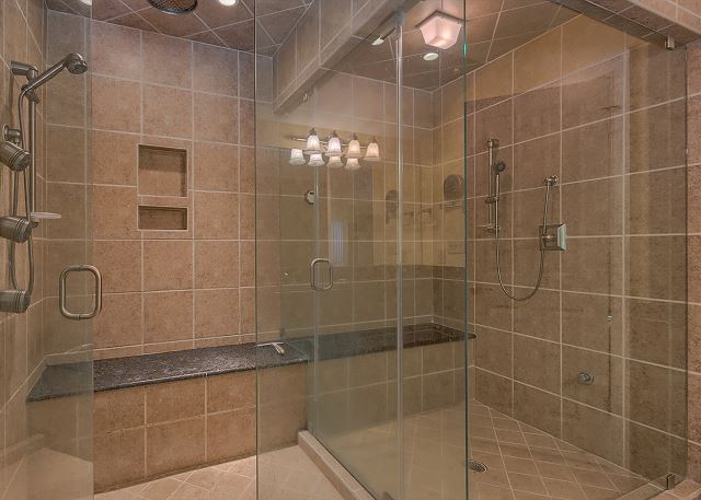 Promontory 15 - Master Suite Walk In Shower - HiltonHeadRentals.com