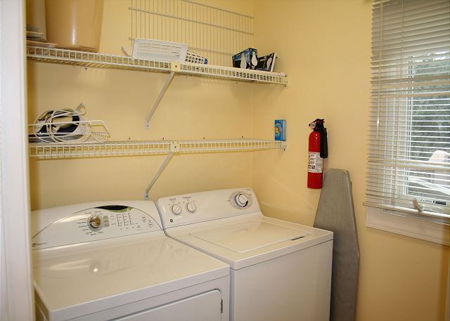 Colonnade Club 196 - Laundry Room - HiltonHeadRentals.com