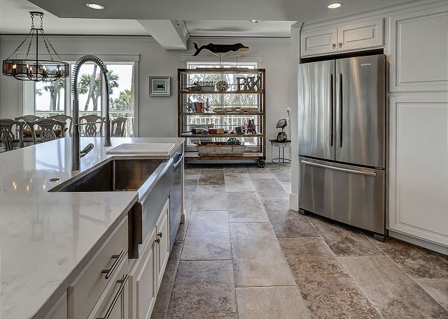 Fully Equipped Ocean View Kitchen