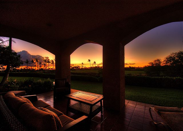 Enjoy a fabulous sunset from your private wrap-around lanai