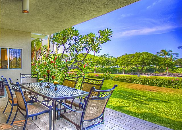 Enjoy 1 of only 14 Vista ground-level condos with largest floor plan.  Beautiful westerly facing lanai protected from afternoon trade winds.
