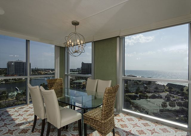Dining Room with view of beach