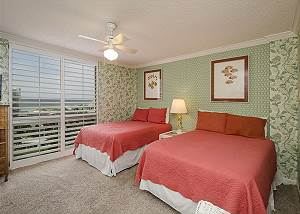 Guest bedroom with two full size beds