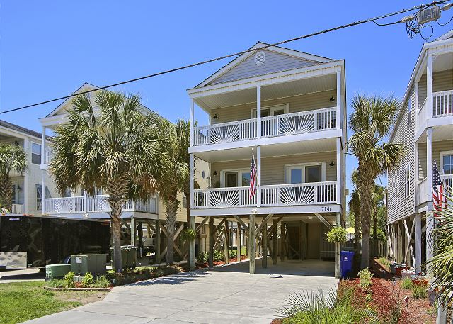 Paradise Beach House is located in Sunny Surfside Beach.  This home is located on Ocean Blvd across the street from the Atlantic Ocean.