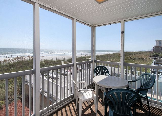 Oceanfront Screen in Balcony
