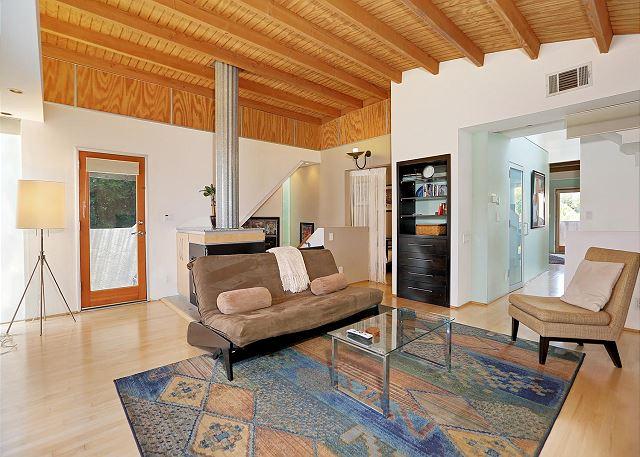 living room view to bonus bedroom