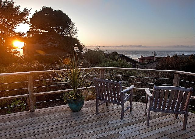Do you like watching the sun set? We do, especially from Rancho del Mar's deck!