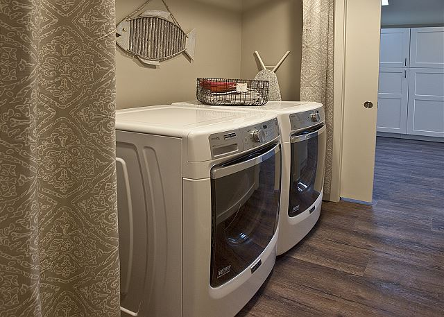 Main floor laundry room.  A 2nd washer/dryer are located downstairs.