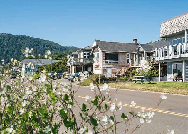 Stone's Throw's coveted location is just around the corner from Laneda, Manzanita's main street.