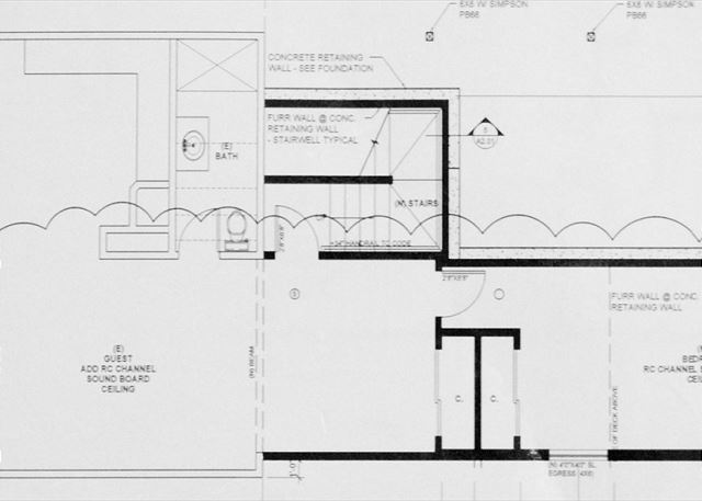 Downstairs Floor Plan - 1 bedroom, 1 bathroom, game room, kitchenette