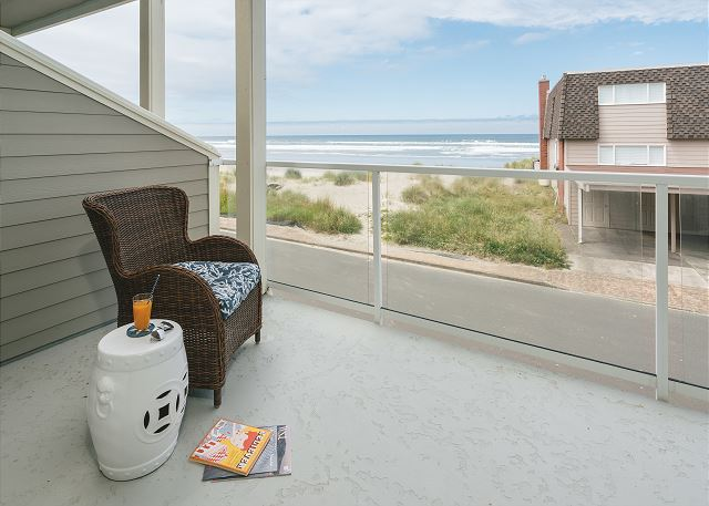 Sheltered master suite balcony in case the weather forces you under cover