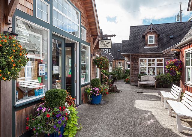 A sampling of quaint boutique shops in downtown Cannon Beach