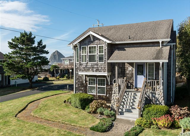 Charming home on corner lot of dead-end street. Haystack Rock views!