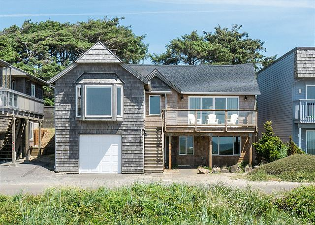 The home provides the most spectacular Manzanita address - next to the corner of Laneda and Ocean Road.