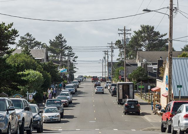 The quaint town of Manzanita is just two miles from the house