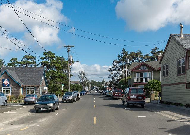 Laneda St., Manzanita's main street, is just a short drive from the house