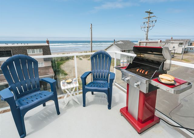 Grilling in style at the beach