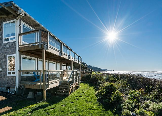 The lower level of this lovely oceanfront home is your front row to Cannon Beach! (quiet owners live upstairs)